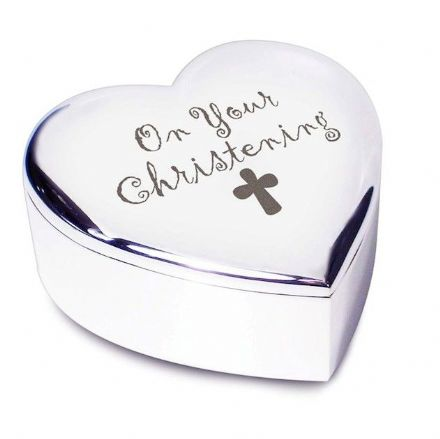 Christening Heart Trinket Box